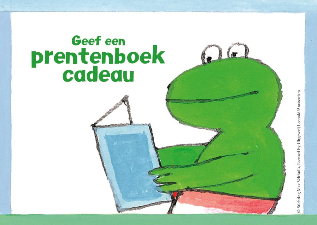 Beeld 4 Kikker met boek 1030x731 - Geef eens een prentenboek cadeau voor maar 2 euro!